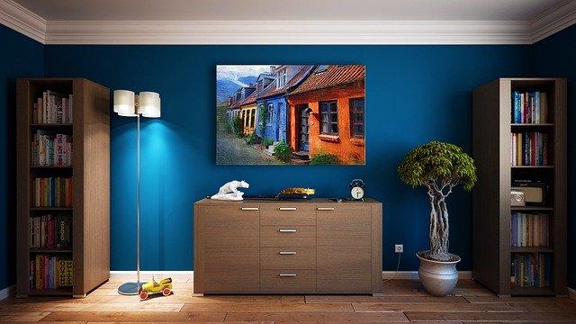 modrá zeď