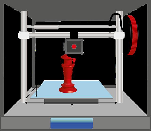 šachová figurka v tiskárně