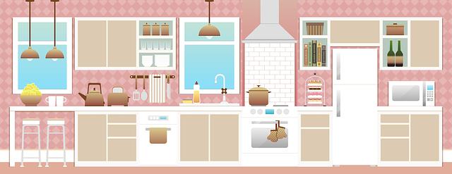 kuchyň s nábytkem