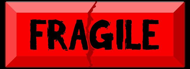 označení fragile