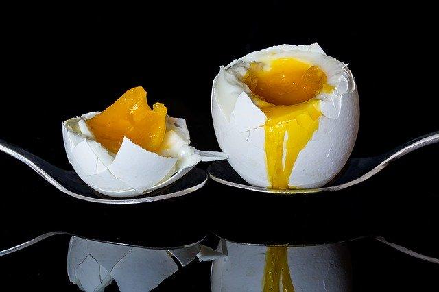 rozpůlené vejce